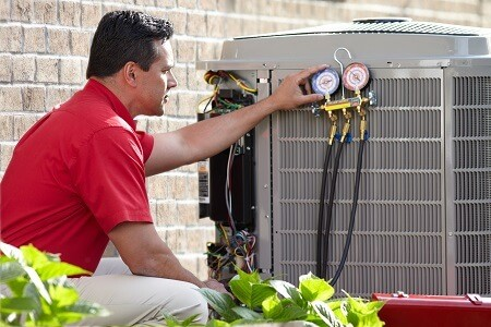 ac contractor from boelcke installing new ac system