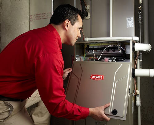heating contractor from boelcke installing new bryant system
