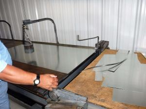 boelcke employee working with sheet metal